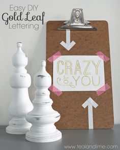 See how easy it is to WRITE IN GOLD and create your own gold-foil style art prints | tealandlime.com