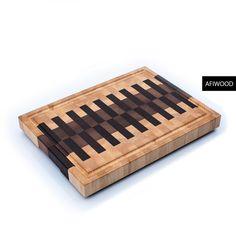 Кленовая торцевая доска из венге и ореха. Пианино.