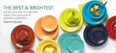 The Best and Brightest, set the tone with 15 collectible colors, from turquoise and scarlet to cobalt blue, Shop by Color