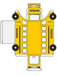 Back to School FREE Printable fold and glue school bus School Bus Crafts, School Bus Party, School Bus Driver, Back To School Party, Magic School Bus, School Parties, Back To School Gifts For Teachers, School Kids, 3d Zeichenstift