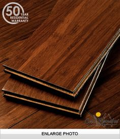 Kona Fossilized™ Strand Wide Plank Bamboo Flooring from Cali Bamboo