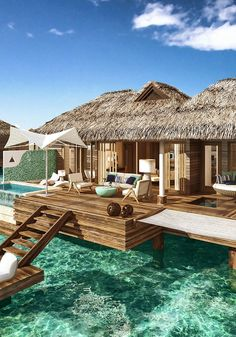 These Overwater Hotel Suites Are INSANE (& All-Inclusive!) #refinery29  http://www.refinery29.uk/2016/03/106908/sandals-royal-caribbean-overwater-bungalows