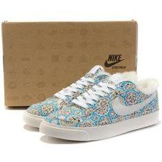0178063a4b78e Women Nike Blazer Low Prm Sunflower Sky Blue Shoes