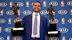 Stephen Curry of the Golden State Warriors was named the first unanimous NBA Most Valuable Player, winning the award for a second straight season.