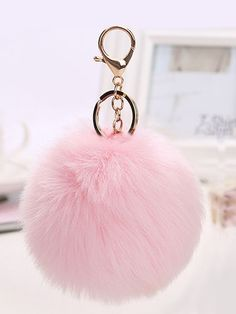 Shop Pom Pom Design Keychain at ROMWE, discover more fashion styles online. Love Keychain, Fur Keychain, Keychain Design, Mochila Jansport, Backpack Keychains, Emma Style, Candy Christmas Decorations, Cute School Supplies, Adventure Gear