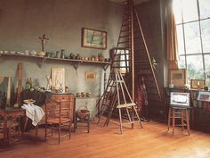 Paul Cezanne's Lauves Studio Paul Cezanne, Cezanne Aix, Artist Loft, Artist At Work, Deco Studio, Studio Design, Studio Art, Painters Studio, Appartement Design