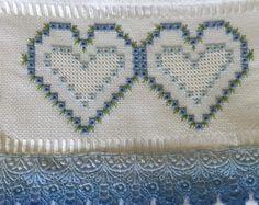 toalha de lavabo coração