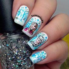 frozen movie nails