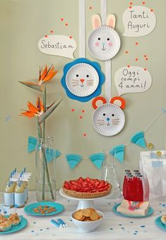 last minute easy party decorations: Easy Party Decorations, How To Make Decorations, Birthday Decorations, Weekend Crafts, Plate Crafts, Fiesta Party, Baby Party, Childrens Party, Party Planning