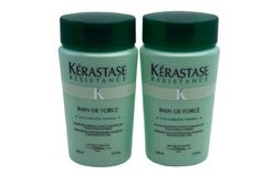 Kerastase Bain de Force Shampoo Travel 3.4 oz each Set of 2 Travel Size Bottles by Kerastase. $23.90. Kerastase Resistance Bain De Force Shampoo for weakened hair uses VITA-CIMENT TOPSEAL and Vita-Ciment Complex and Vita-Topseal to gently cleanse hair. This formula revitalizes the hair and restores softness, shine and substance to weakened hair.