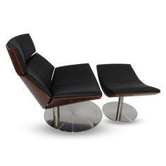 Black Leather Impress Lounge Set