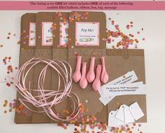 Één 1  DIY Pop de ballon kit geheime boodschap binnen zal