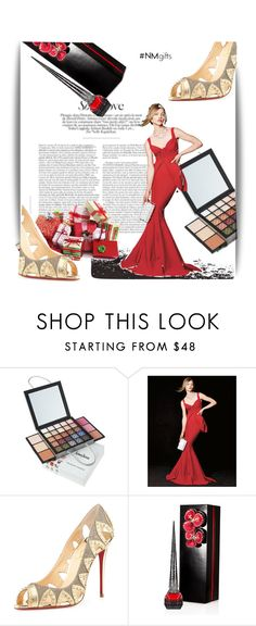 """The Holiday Wish List With Neiman Marcus: Contest Entry"" by theitalianglam ❤ liked on Polyvore featuring Neiman Marcus, La Petite Robe di Chiara Boni and Christian Louboutin"