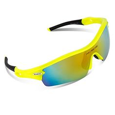57309fda6 RIVBOS 805 Polarized Sports Sunglasses Sun Glasses with 5 Set  Interchangeable Lenses for Men Women Cycling