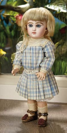 Sanctuary: A Marquis Cataloged Auction of Antique Dolls - March 19, 2016: Petite French Bisque Bebe by Jumeau with Especially Beautiful Eyes