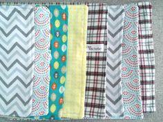 Baby Boy Burp Cloth Set by OurMichelleDesigns on Etsy