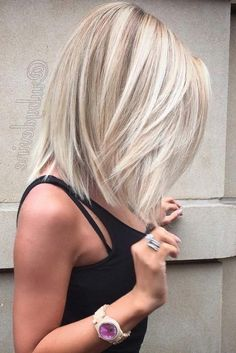 think cool Bob hairstyles medium length is the most suitable for ladies, these trendy hairstyles this year is good for you image. Medium Hair Cuts, Short Hair Cuts, Medium Hair Styles, Short Hair Styles, Medium Cut, Blonde Hair Styles Medium Length, Medium Length Haircuts, Medium Length Hair With Layers Straight, Medium Long