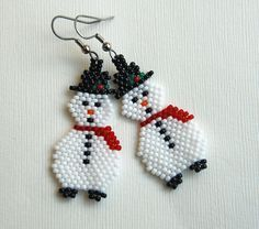 Totally Twisted Bangles & Beads: Snowman Earrings