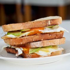 The best #breakfast #sandwich of all time - eggs, avocado, mayo, mustard and sharp cheddar is all you need. #glutenfree