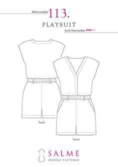 Printable PDF pattern including illustrated sewing instructions. You can instantly download your pattern after payment. You will need adobe reader to read the pdf file and a printer to print out the pattern. Use paper size A4 or US letter. Level: beginner / intermediate INCLUDES SIZES: 4 ( EUR 34, UK 6) Bust 33 Waist 25 Hips 35 1/2 ( 84 cm - 63,5 cm - 90 cm ) 6 ( EUR 36, UK 8 ) Bust 34 Waist 26 Hips 36 1/2 ( 86,5 cm - 66 cm - 93 cm ) 8 ( EUR 38, UK 10 ) Buts 35 Waist 27 Hips 37 1/2 ( 89...