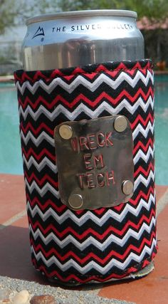 I know someone who would LOVE this! Texas Tech chevron stamped koozie