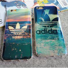 iPhone7 PLUS/SE/6S PLUS ケース Adidasアディダス ソフト 薄型  お揃い カップルペアブランド携帯カバー オシャレ 柔らかい 青い 緑