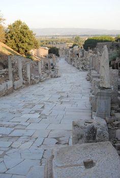 Walking the ancient streets in Ephesus, Turkey Have A Nice Trip, Ancient Near East, Greek Isles, Ephesus, Turkey Travel, Holy Land, Pompeii, Ancient Civilizations, Pilgrimage