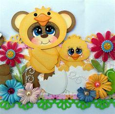 TWAG Rosa Easter Spring 2 set Border paper piecings tear bear scrapbooking