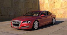 Audi, A8, En Rouge