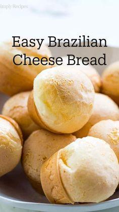 Brazillian Cheese Bread, Brazilian Bread, Brazilian Recipes, Gluten Free Recipes, Bread Recipes, Baking Recipes, Gf Recipes, Pizza Recipes, Deserts