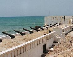Cape Coast Slave Castle, Ghana, cannons