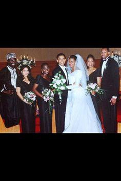 Barack & Michelle Wedding Day