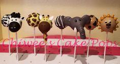 Safari animals cake pops