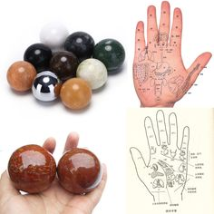 1PCS 5cm Stress Relaxation Therapy Hand Massage Ball Chinese Health Hand Exercise Ball Baoding Balls 9 Style