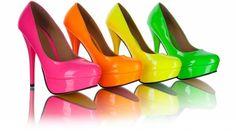 Bridesmaids heels.. rainbow!