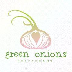 Green Onions Restaurant  #logo #logo design