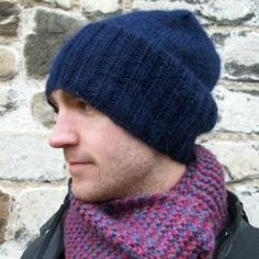 Make this super cosy slouch beanie for a special man in your life, using a wool/alpaca blend yarn and easy knitting techniques.