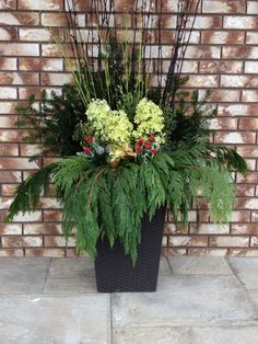 Unique christmas planter urn ideas google search christmas do it yourself christmas planter solutioingenieria Choice Image