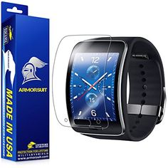 ArmorSuit MilitaryShield  Samsung Gear S Smartwatch Screen Protector AntiBubble Ultra HD  Extreme Clarity  Touch Responsive Shield with Lifetime Free Replacements  Retail Packaging *** You can get additional details at the image link.