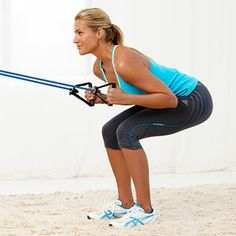 Try this circuit workout from celebrity trainer Jackie Warner, star of Thintervention, to burn calories at home in just 10 easy exercises. Total Body, Full Body, Workout Circuit At Home, Jackie Warner, Lose 20 Pounds, Body Workouts, Health And Fitness Tips, Workout Ideas, Squats