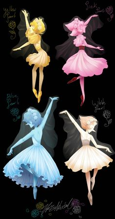 Full Ballerina Pearls by HezuNeutral on DeviantArt