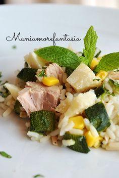 Risotto freddo con tonno e zucchine, quasi uninsalata di riso