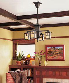 light fixture and fireplace surround - Craftsman Kitchen