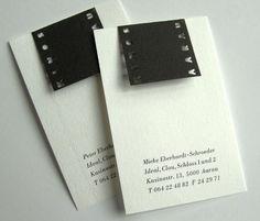 business card for Kinos Aarau (translated Cinemas) - designed by Heinz Wild