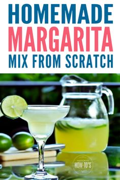 Homemade Margarita Mix Recipe from Scratch - Just the right balance of sweet and tart. This margarita mix recipe will be your new favorite! Sweet, sour, tart and tangy. an easy homemade margarita mix with none of the scary store-bought ingredients! Homemade Margarita Mix, Lime Margarita Recipe, Homemade Margaritas, How To Make Margaritas, Margarita Recipes, Cocktail Recipes, Skinny Margarita, Cocktail Drinks, Italian Margarita