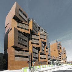Gallery - Basket Apartments in Paris / OFIS architects - 1 appartementen gevel stapeling terrassen inpandig
