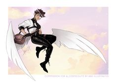Angel OC [Commission] by ABD-illustrates on DeviantArt Fantasy Character Design, Character Drawing, Character Design Inspiration, Character Ideas, Wings Drawing, Oc Drawings, Human Art, Art Reference Poses, Drawing Poses