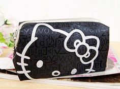Lovely Hello Kitty Style Cosmetic Bag/Make-up Bag/Cosmetic Tote Bag,Silver Pattern by KT. $12.99. CUTE