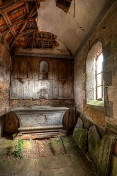 Abandoned chapel in Brittany.