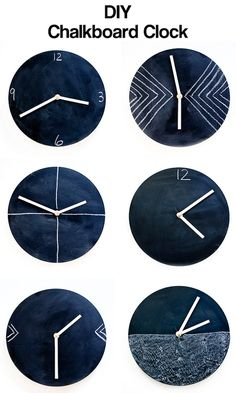 DIY chalkboard clock — it's super simple!